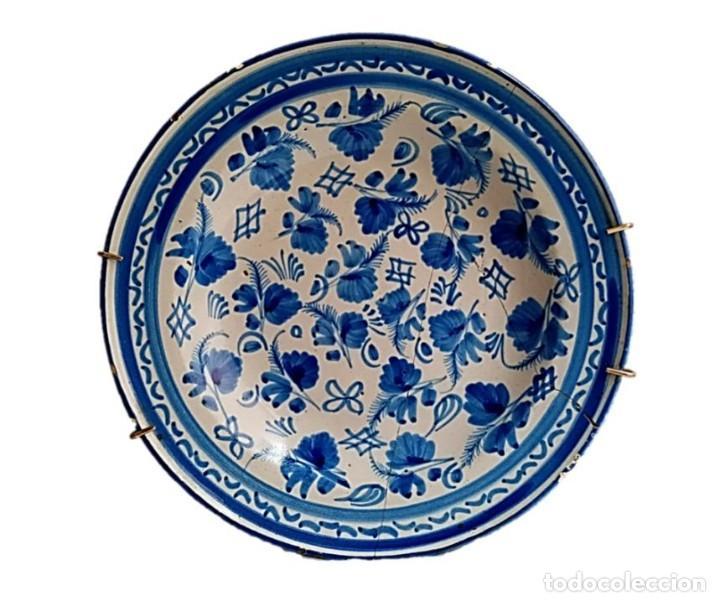 PLATO DE ALCORA S XVIII DECORACION CHINESCA COLOR AZUL (Antigüedades - Porcelanas y Cerámicas - Alcora)