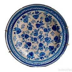 Antigüedades: PLATO DE ALCORA S XVIII DECORACION CHINESCA COLOR AZUL. Lote 261829615