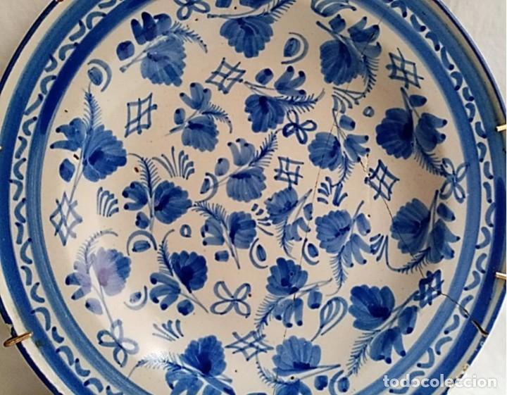 Antigüedades: PLATO DE ALCORA S XVIII DECORACION CHINESCA COLOR AZUL - Foto 2 - 261829615