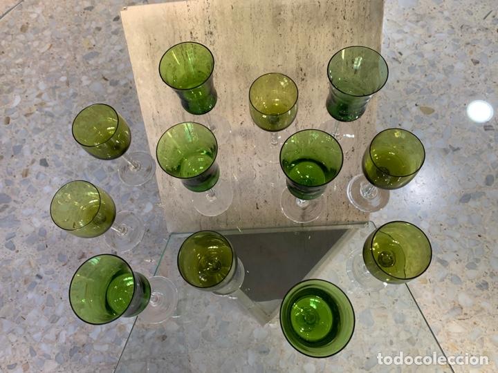 Antigüedades: Copas bicolor Santa Lucía. - Foto 2 - 261852880