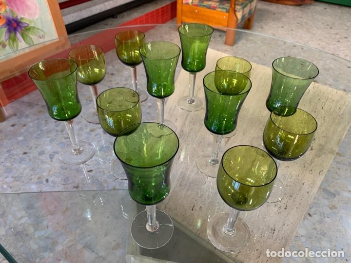 Antigüedades: Copas bicolor Santa Lucía. - Foto 3 - 261852880