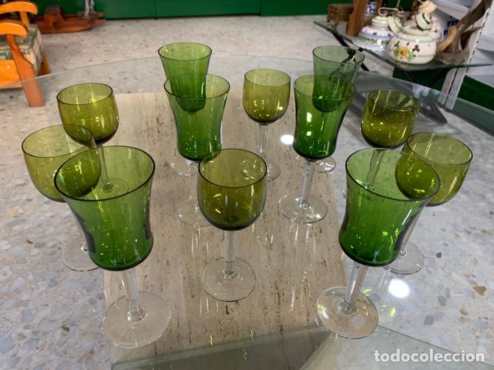 Antigüedades: Copas bicolor Santa Lucía. - Foto 4 - 261852880