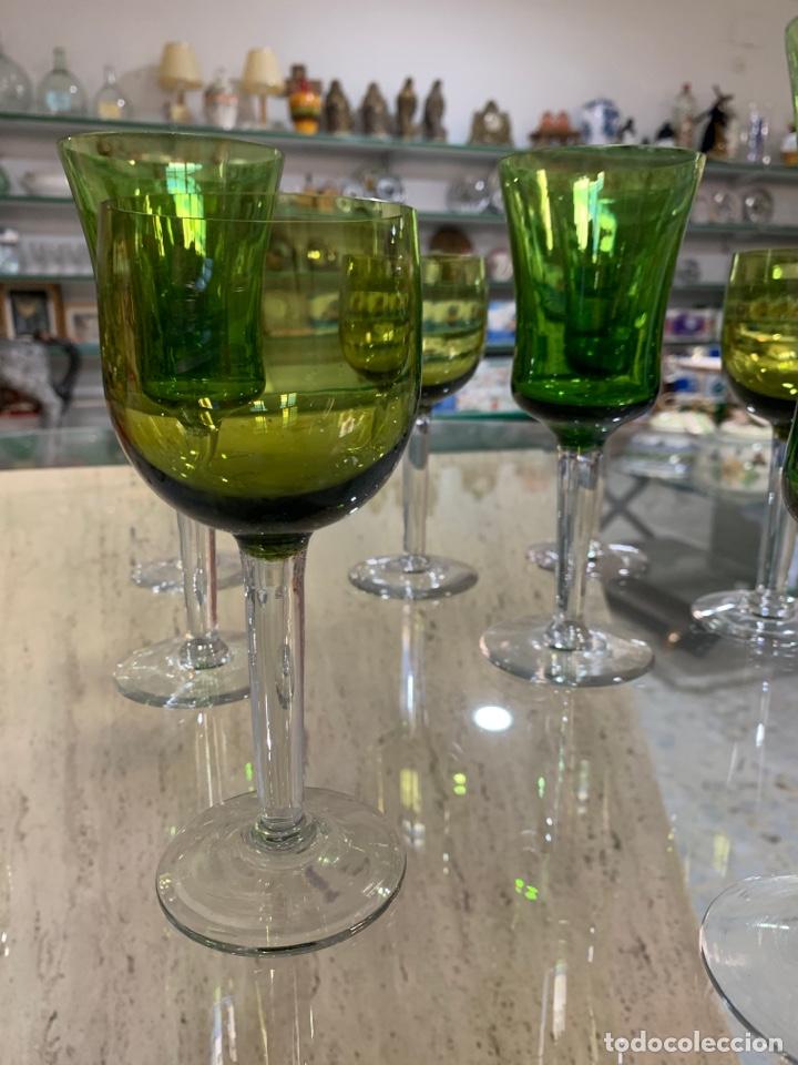 COPAS BICOLOR SANTA LUCÍA. (Antigüedades - Cristal y Vidrio - Santa Lucía de Cartagena)