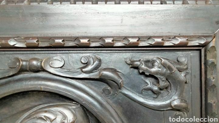 Antigüedades: PRECIOSO MARCO CON TALLA DE MADERA - Foto 7 - 261856900