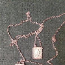 Antigüedades: ESCAPULARIO DE LATA. Lote 261877345