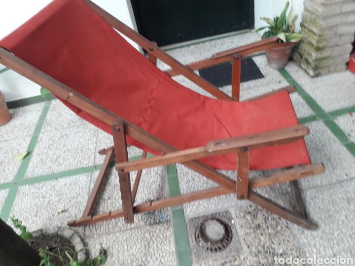 Antigüedades: HAMACA MUY ANTIGUA. TELA NUEVA - Foto 2 - 261908135
