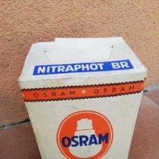 Antigüedades: ANTIGUA BOMBILLA OSRAM NITRAPHOT BR. CON SU CAJA ORIGINAL.. Lote 261910430