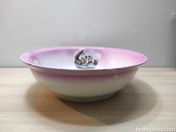Antigüedades: Aguamanil palangana loza porcelana antigua - Foto 2 - 261930155