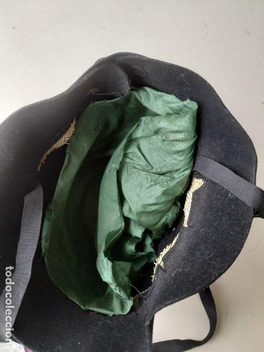 Antigüedades: Antiguo sombrero gorro cloché de fieltro negro. Germaine Ortiz, modes. Años 20. Descosido - Foto 6 - 261938900