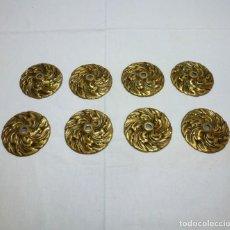 Antigüedades: 8 ANTIGUOS PLATILLOS DE BRONCE PARA LAMPARA.10 CM.. Lote 261942250