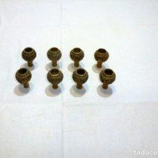 Antigüedades: 8 ANTIGUOS REPUESTOS DE BRONCE PARA LAMPARA.5 X 3.5 CM.. Lote 261942625