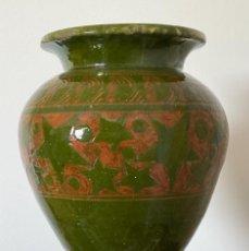 Antigüedades: JARRÓN NOUCENTISTA FIRMADO POR MARIÀ BURGUÉS, SABADELL AÑOS 20. Lote 261953140