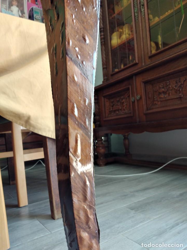 Antigüedades: Exquisita mesa de despacho Luis xv con marquetería, bronce base de cristal y pintada a mano. - Foto 23 - 261960205