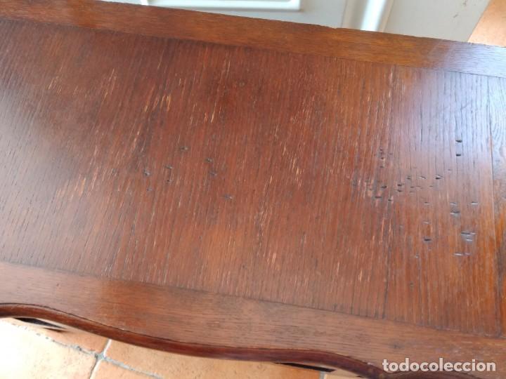 Antigüedades: Bonito mueble baúl de madera noble con decoración abierta en el frontal. - Foto 8 - 261961170