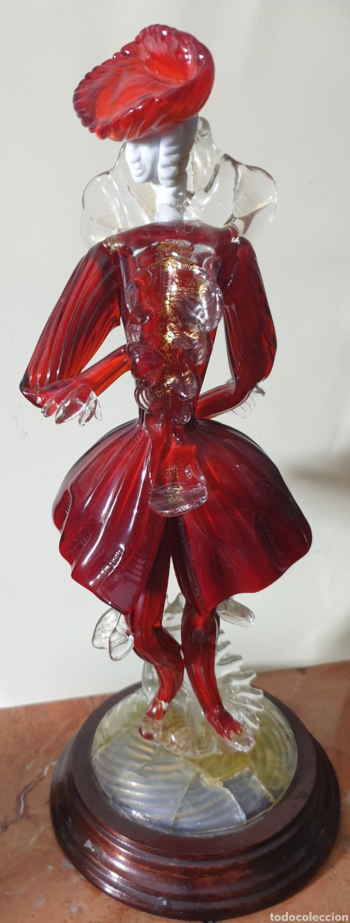 Antigüedades: Bonita pareja de cristal de murano de mediados o principios sigloXIX - Foto 3 - 261983620