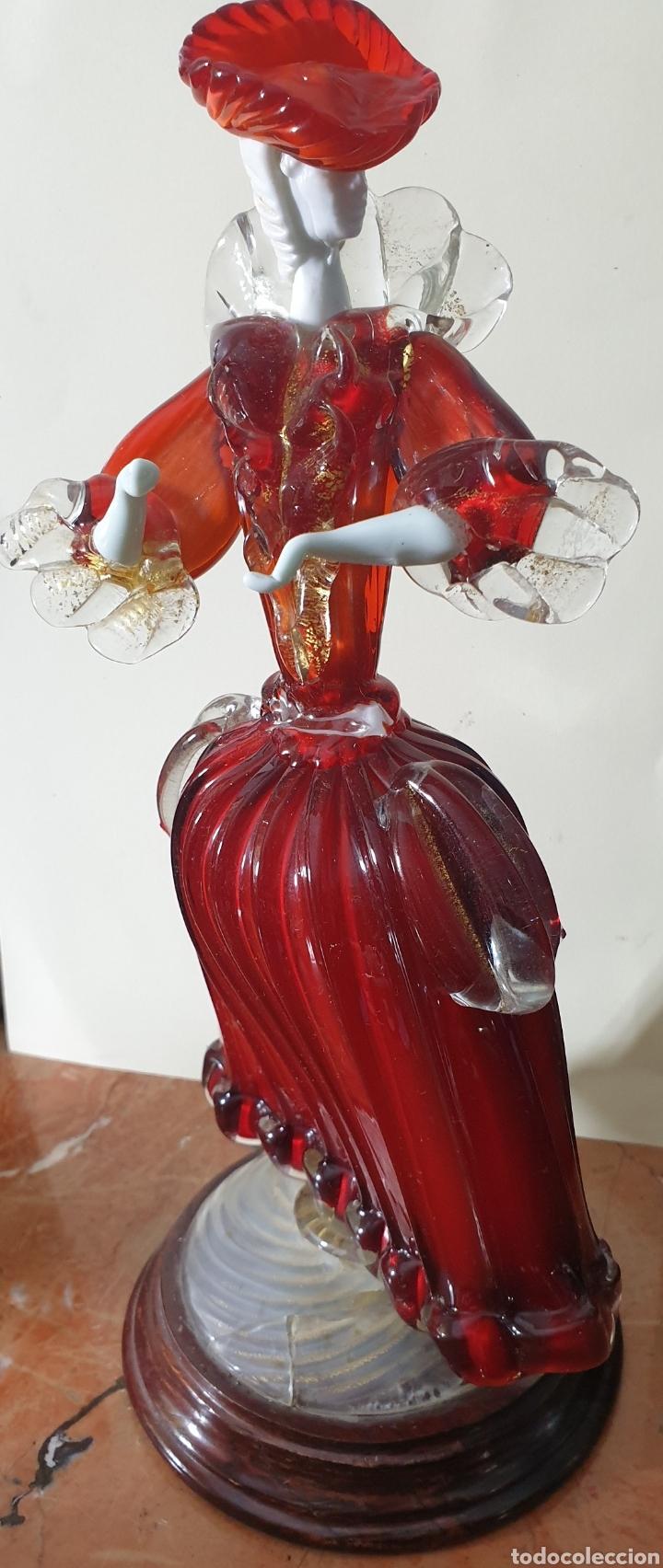 Antigüedades: Bonita pareja de cristal de murano de mediados o principios sigloXIX - Foto 8 - 261983620