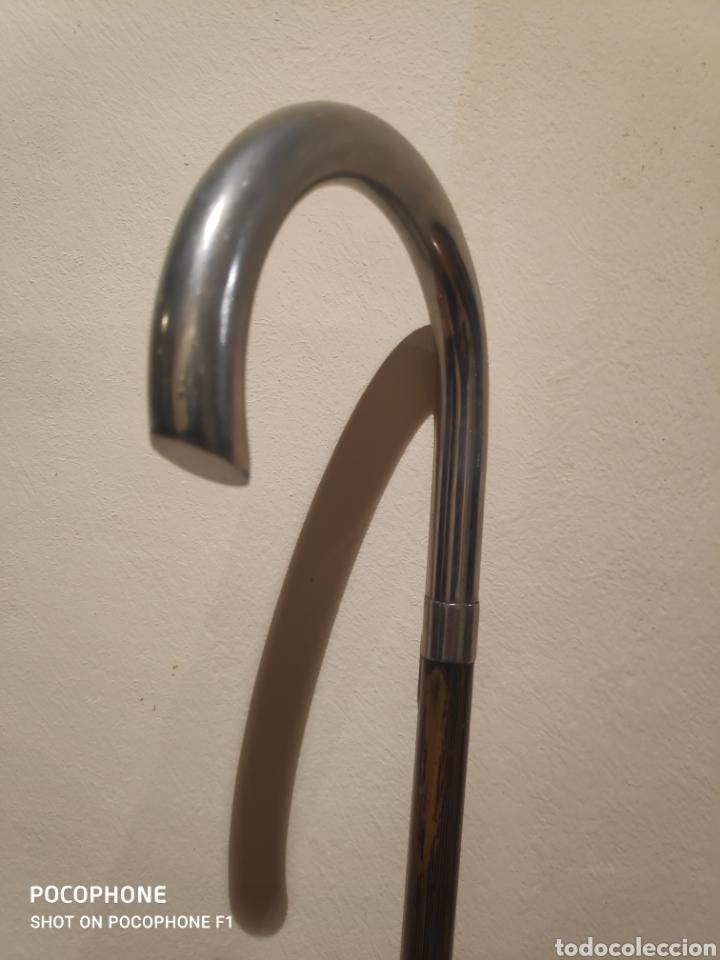 Antigüedades: Bastón años 20 empuñadura en metal plateado - Foto 3 - 261995705