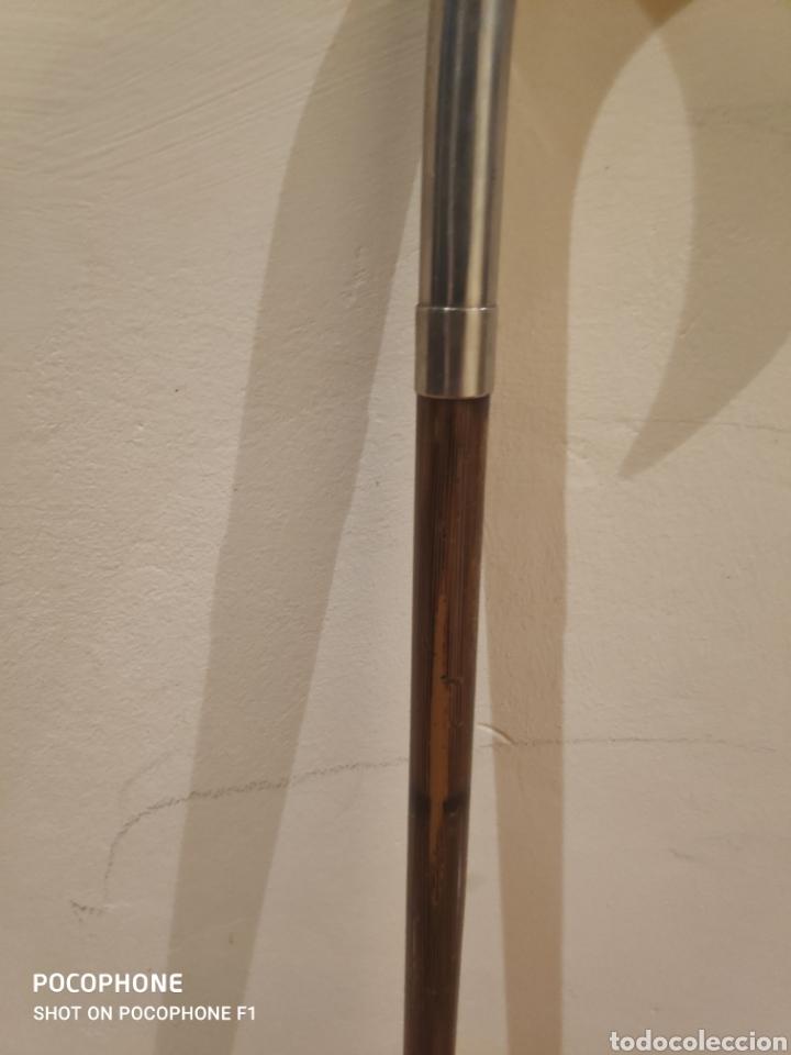 Antigüedades: Bastón años 20 empuñadura en metal plateado - Foto 4 - 261995705