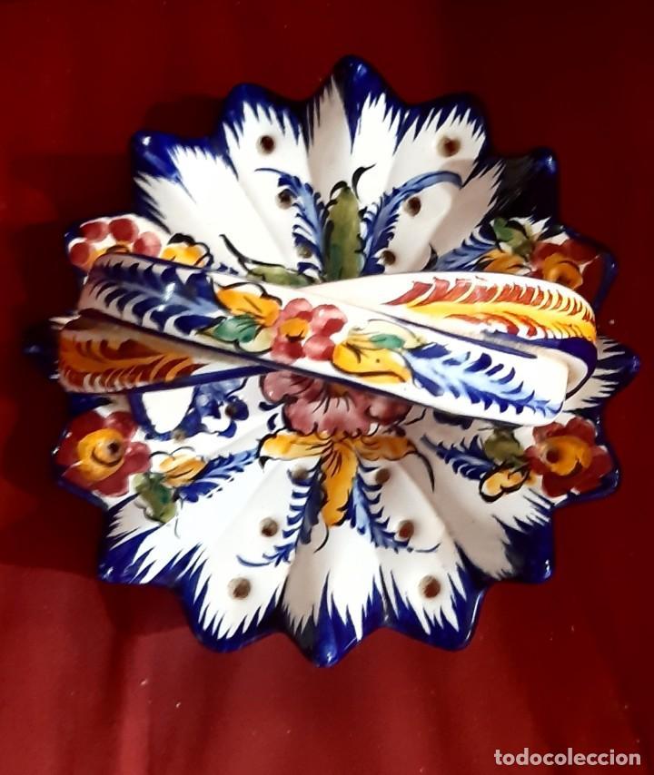 CESTA CERAMICA TALAVERA (Antigüedades - Porcelanas y Cerámicas - Talavera)