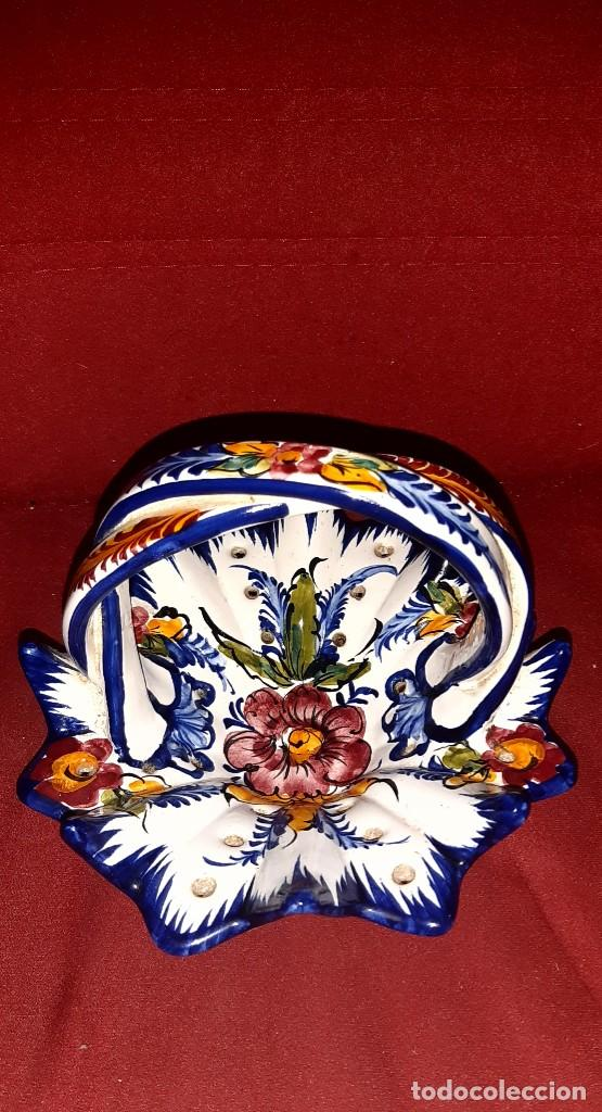 Antigüedades: CESTA CERAMICA TALAVERA - Foto 2 - 262008415