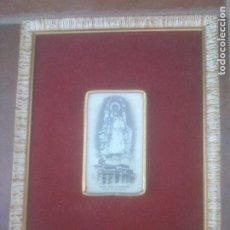 Antigüedades: ESTAMPA ENMARCADA NTRA SRA DE GRIJASALBAS PATRONA DE VILLADEFRADES DE CAMPOS VALLADOLID. Lote 262010005