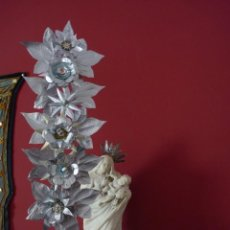 Antigüedades: FLORES TALCO CAPIPOTA DECORACIÓN. Lote 262010195
