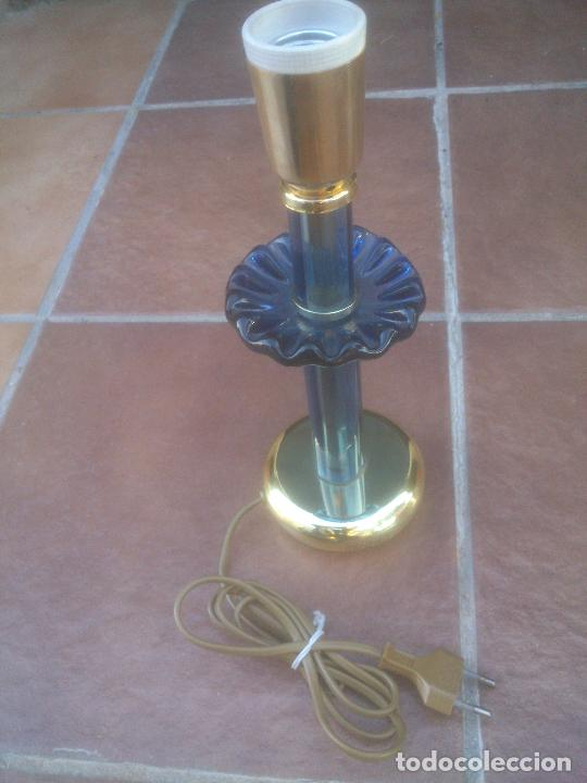 LAMPARILLA SOBREMESA DE CRISTAL DE MURANO MADE IN ITALY (Antigüedades - Iluminación - Otros)