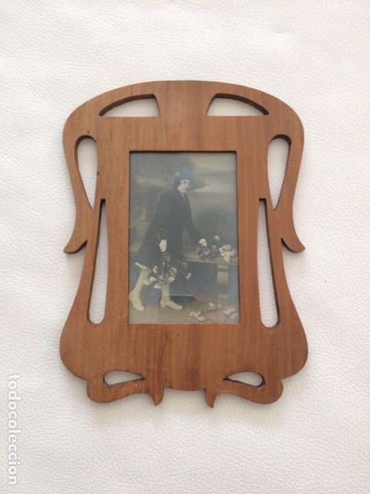 Antigüedades: Porta foto antiguo - Foto 2 - 262030590
