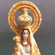 Antigüedades: VIRGEN DE LOS DESAMPARADOS CERÁMICA DE MANISES FIRMADO C. PERIS. Lote 262033560