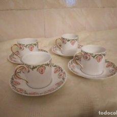Antigüedades: SERVICIO DE CAFÉ PARA 4 DE PORCELANA LIMOGES C. AHRENFELDT FRANCE,AÑOS 40/50. Lote 262052245