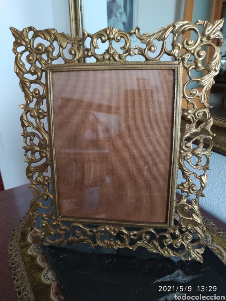 MARCO DE BRONCE (Antigüedades - Hogar y Decoración - Portafotos Antiguos)