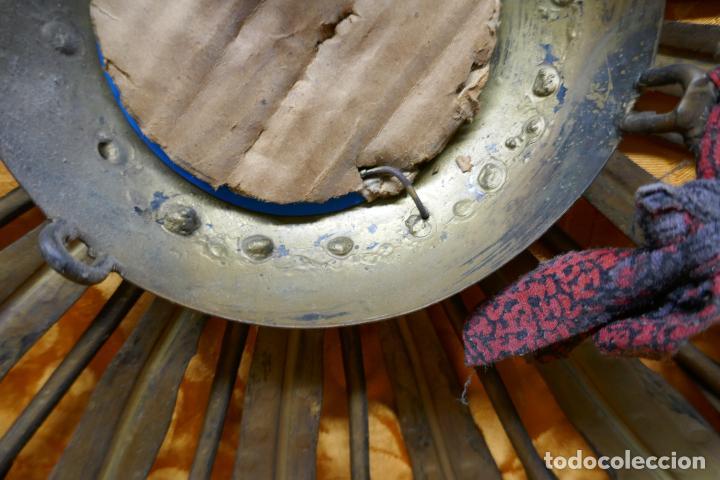 Antigüedades: PRECIOSO ESPEJO SOL DE BRONCE, TOTAL 50 CM - Foto 16 - 262070195