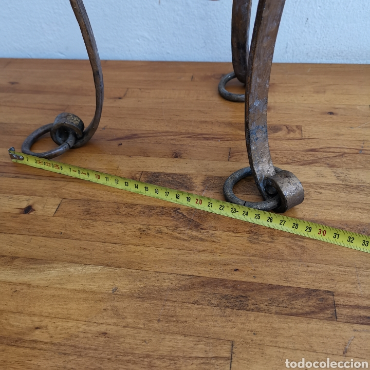 Antigüedades: Soporte de hierro forjado para maceta. Terraza. 1950s 1960s - Foto 3 - 262109205