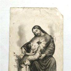 Antigüedades: ANTIGUA ESTAMPA RELIGIOSA. CORAZÓN DE JESÚS. L. TURGIS EDIT. PARÍS (SIGLO XIX). Lote 262112315