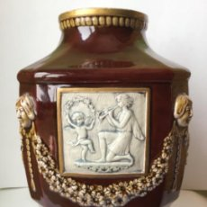 Antigüedades: ANTIGUO JARRON MODERNISTA , ORIGINAL 1900 , PORCELANA SELLADA. Lote 262113975