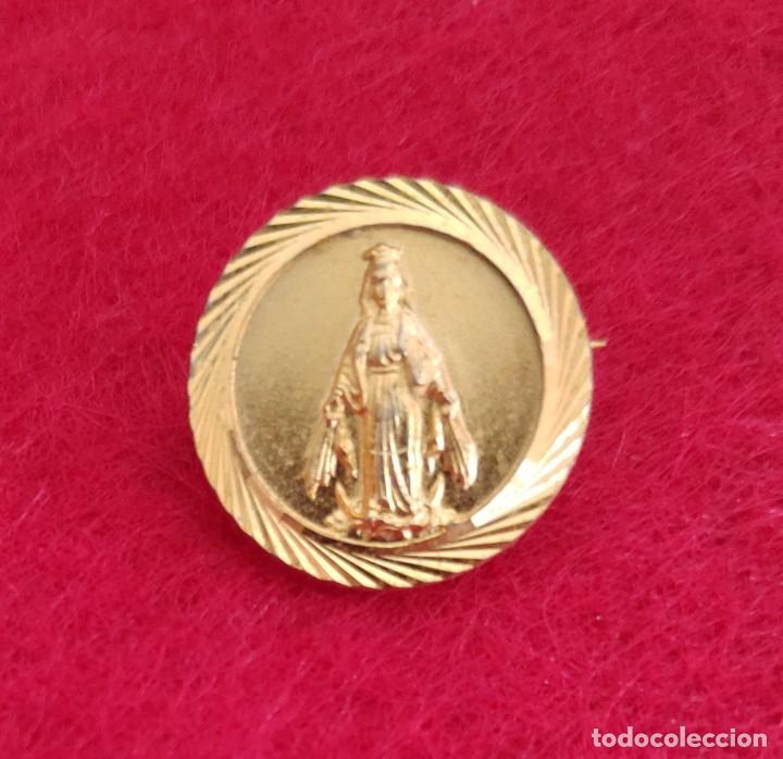 HERMOSA MEDALLA-INSIGNIA DE LA VIRGEN MILAGROSA (Antigüedades - Religiosas - Medallas Antiguas)