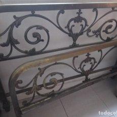 Antigüedades: CABECERO Y PIECERO DE BRONCE. Lote 262129140