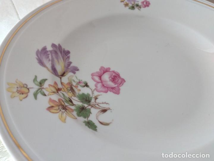 Antigüedades: Lote de 12 platos llanos y hondos de porcelana viribus unitis VSK USC,germany - Foto 7 - 262130010