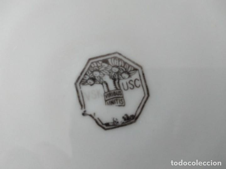 Antigüedades: Lote de 12 platos llanos y hondos de porcelana viribus unitis VSK USC,germany - Foto 10 - 262130010