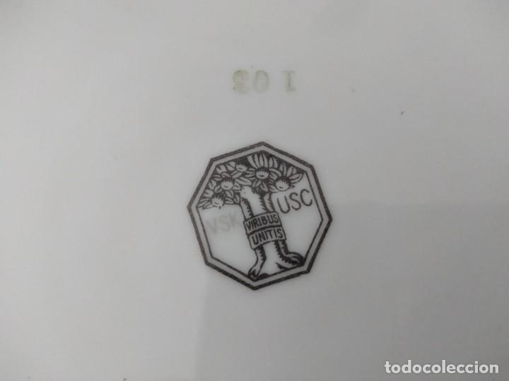 Antigüedades: Lote de 12 platos llanos y hondos de porcelana viribus unitis VSK USC,germany - Foto 11 - 262130010