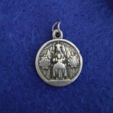 Antigüedades: PRECIOSA MEDALLA EN PLATA DE NUESTRA SEÑORA DE MONTSERRAT Y CORAZÓN DE JESÚS. Lote 262132250