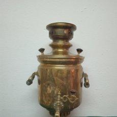 Antigüedades: ANTIGUA TETERA RUSA DE BRONCE. Lote 262145925