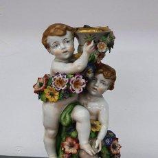 Antigüedades: CANDELABRO PORCELANA ALEMANA - VON SCHIERHOLZ - 26 CM.. Lote 262148425