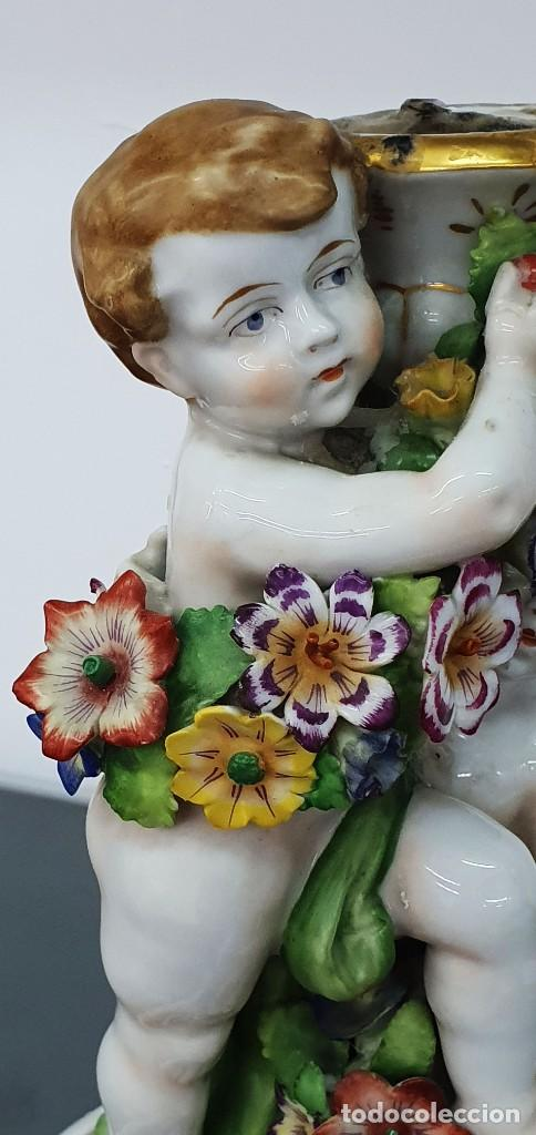 Antigüedades: CANDELABRO PORCELANA ALEMANA - VON SCHIERHOLZ - 26 CM. - Foto 6 - 262148425