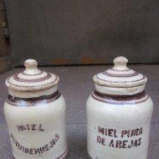 Antigüedades: ANTIGUOS BOTES DE MUEL. Lote 262184950