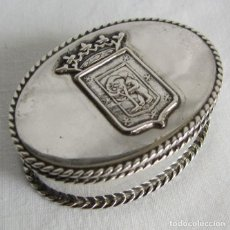 Antigüedades: CAJA DE PLATA 915 MULTILEASE CONFERENCE 1978 UCO ESCUDO DE MADRID. Lote 262247300