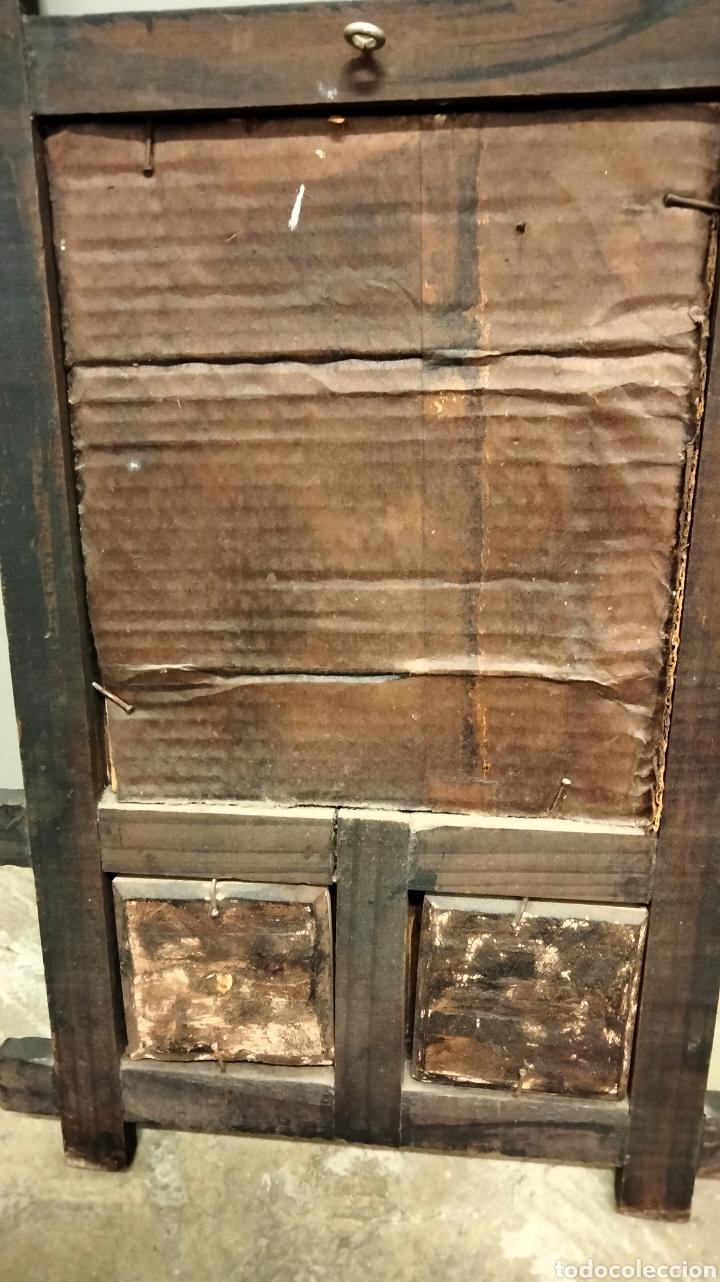 Antigüedades: ANTIGUO MARCO CON ESPEJO Y CERAMICA - Foto 5 - 262288835