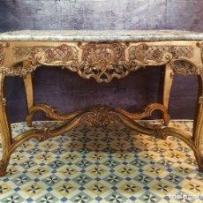 Antigüedades: MESA COMEDOR ROCOCO PAN DE ORO. Lote 262333055