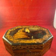 Antigüedades: PRECIOSO TOCADOR JOYERO DE MADERA ANDALUZ CON MARQUETERÍA. Lote 262354190