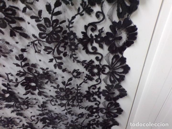 Antigüedades: antigua mantilla rectangular bonito trabajo decoracion floral - Foto 7 - 262366595